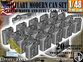 1/48 Military Fuel+Water Can Set401 in Smooth Fine Detail Plastic