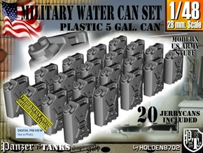 1/48 Military Water Can Set301 in Smooth Fine Detail Plastic
