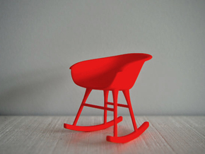 1:12 Chair complete 3 in Red Processed Versatile Plastic