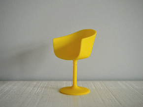 1:12 Chair complete 5 in Yellow Processed Versatile Plastic