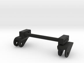 SCX10 1 piece LWB Front Leaf Mounts for Rear in Black Natural Versatile Plastic