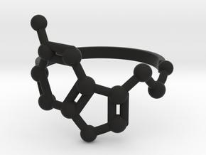 Serotonin (Happiness) Molecule Ring in Black Natural Versatile Plastic: 6.5 / 52.75