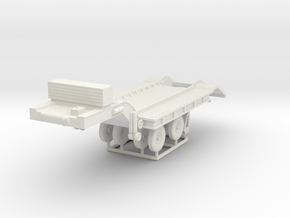 1/72 Federal 604 20-ton Semi-Trailer in White Natural Versatile Plastic