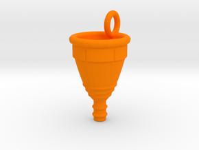 Menstrual Cup Pendant large in Orange Processed Versatile Plastic
