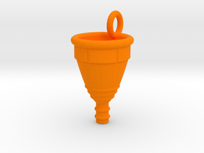 Menstrual Cup Pendant large in Orange Processed Versatile Plastic