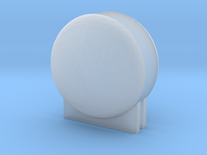 "'N & HO Scale' - LNG Tank Ends & Supports for 3/4"" in Smooth Fine Detail Plastic"