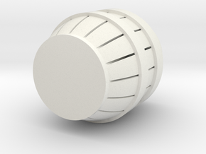Beer Barrel/Cask in White Natural Versatile Plastic