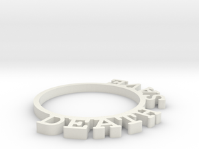 D&D Condition Ring, Death Save in White Natural Versatile Plastic