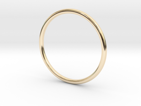 Stackable skinny ring (various sizes) in 14K Yellow Gold: 3 / 44