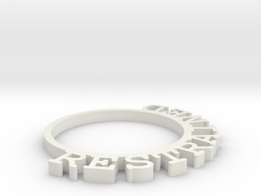 D&D Condition Ring, Restrained in White Natural Versatile Plastic