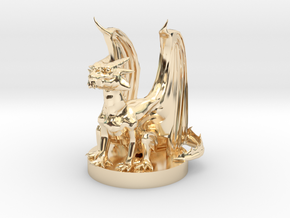 Gold Dragon Wyrmling in 14k Gold Plated Brass