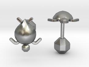 Tortuga Cufflinks in Natural Silver