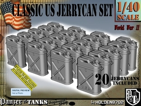 1/40 US Jerrycan x20 Set101 in Smooth Fine Detail Plastic