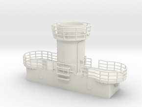 1/96 Bismarck Aft Searchlight Platform in White Natural Versatile Plastic
