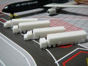 Airport GSE 1:400 Set 8 : Trailer Truck in White Strong & Flexible Polished