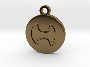 FFXIV Warrior (WAR) Pendant in Polished Bronze