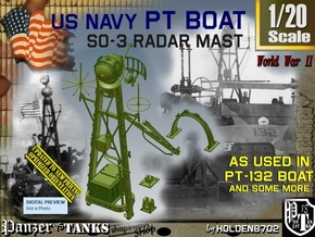 1/20 PT-132 SO-3 Radar Mast Set002 in Smooth Fine Detail Plastic