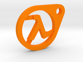 Half-Life Lambda Keychain in Orange Processed Versatile Plastic