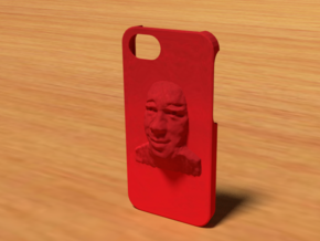 Face Iphone 5 Case in Red Processed Versatile Plastic