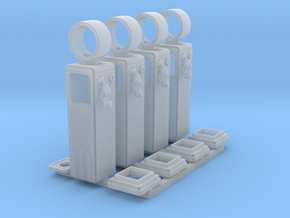 1:87 8 Ball Gas Pump - 4ea in Smooth Fine Detail Plastic