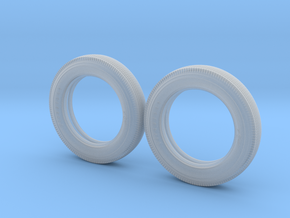 1/16  450-18 Firestone Tires, FRONT in Smooth Fine Detail Plastic