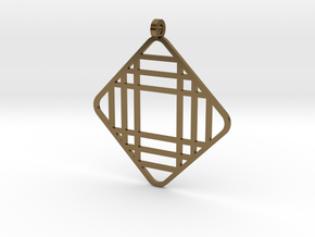 Grid 1 - Pendant in Polished Bronze