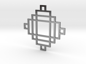 Grid 2 - Pendant in Polished Silver