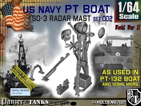 1/64 PT-132 SO-3 Radar Mast Set002 in Smooth Fine Detail Plastic