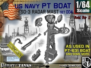 1/64 PT-631 SO-3 Radar Mast Set004 in Smooth Fine Detail Plastic