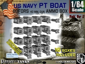 1/64 Bofors Ammo Box Set101 in Smooth Fine Detail Plastic
