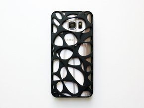 Samsung Galaxy S7 Edge Case_Voronoi in Black Natural Versatile Plastic