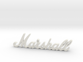 "Marshall Logo - 2.5"" for Pinball Speaker Panel in White Premium Versatile Plastic"