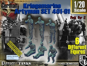 1/20 Kriegsmarine Artyman Set401-01 in White Natural Versatile Plastic