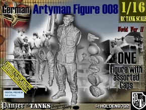 1/16 German Artyman Fig008 in White Natural Versatile Plastic