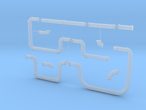 Large Pipeline Sprue in Smooth Fine Detail Plastic