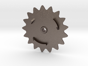 Rockola World Series 17-tooth Base Sprocket in Polished Bronzed Silver Steel