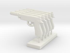InfantryPistol in White Natural Versatile Plastic