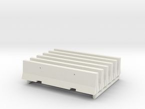 Concrete Barricade 01. Scale HO (1:87)  in White Natural Versatile Plastic