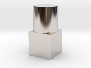 Small Geometric Object for Testing Finishes in Rhodium Plated Brass