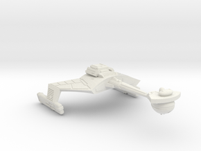 3788 Scale Klingon D7VK Refitted Strike Carrier WE in White Strong & Flexible