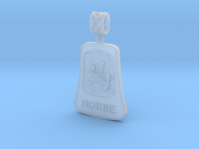Chinese 12 animals pendant with bail - thehorse in Smooth Fine Detail Plastic