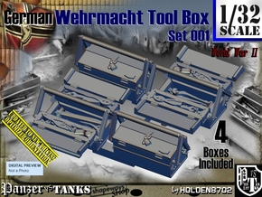 1/32 German WWII Tool Box Set001 in Smooth Fine Detail Plastic
