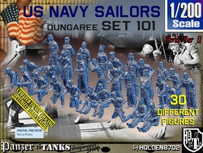 1/200 USN Dungaree Set 101 in Smoothest Fine Detail Plastic