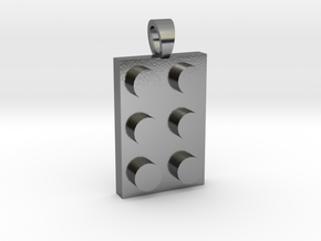 Constructor first brick [pendant] in Polished Silver
