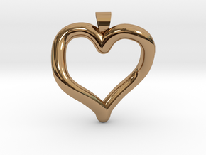 Infinite heart [pendant] in Polished Brass
