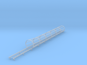 1/64 ladder and cage with flair bottom in Smooth Fine Detail Plastic