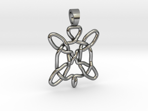 Celtic knot turtle [pendant] in Polished Silver