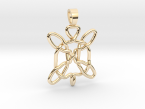 Celtic knot turtle [pendant] in 14k Gold Plated Brass