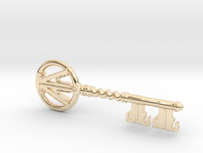 Ready Player One - Copper Key in 14k Gold Plated Brass