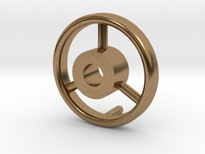 B15F Hand Wheel for Search Light in Natural Brass